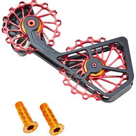 KCNC Jockey Wheel System SUS til Shimano 10S/11S 14+16 tænder rød